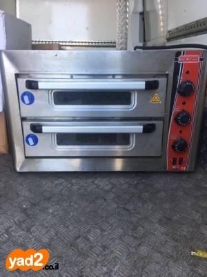 תוספת תנור פיצה 2 תאים אבן ציוד לעסקים תעשייתי יד שניה - ad JY-15