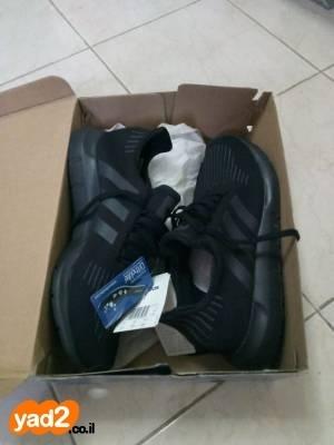 מעולה נעלי אדידס שחורות חדשות בקופסה ביגוד ואביזרים נעליים ספורט יד שניה AG-23