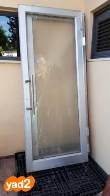 אדיר דלתות אלומיניום עם זכוכית (ראה ריהוט חוץ - פלדה יד שניה - ad TO-91